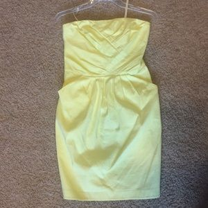 French Connection yellow strapless size 4 dress